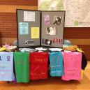 A sexual assault awareness display at Washington State Community College.