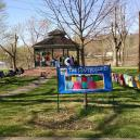 The Clothesline Project at Muskingum Park in Marietta.