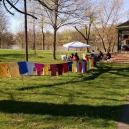 The Clothesline Project at Muskinum Park in Marietta.
